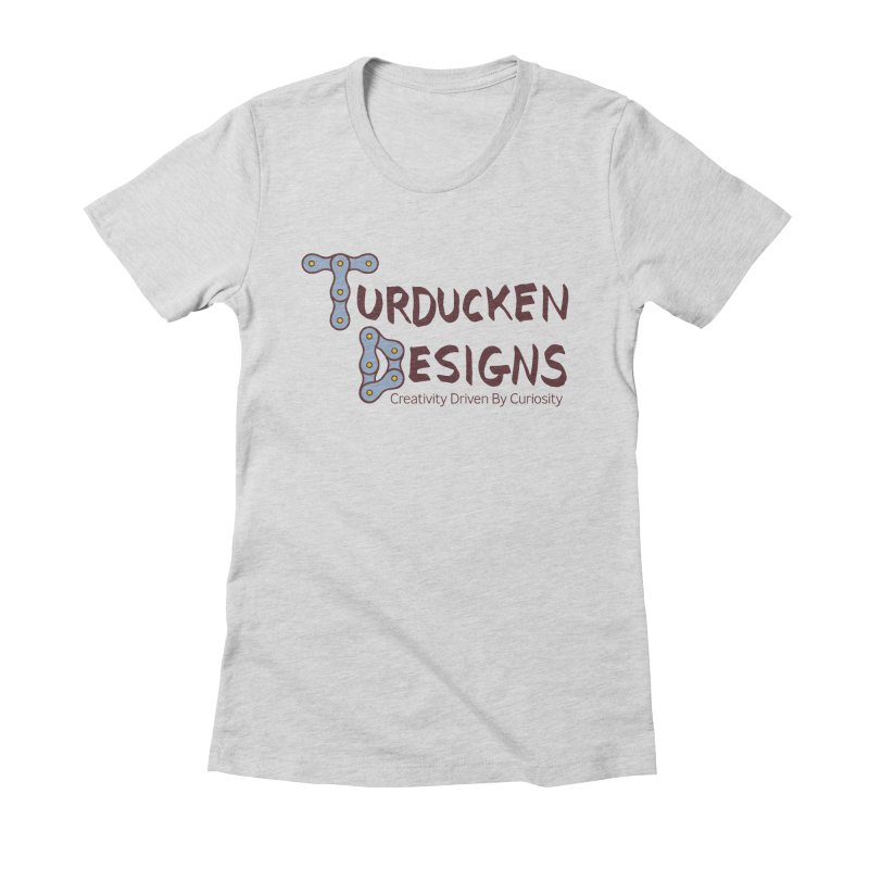 Turducken Designs Women's Fitted T-Shirt by NOLA 'Nacular's Shop