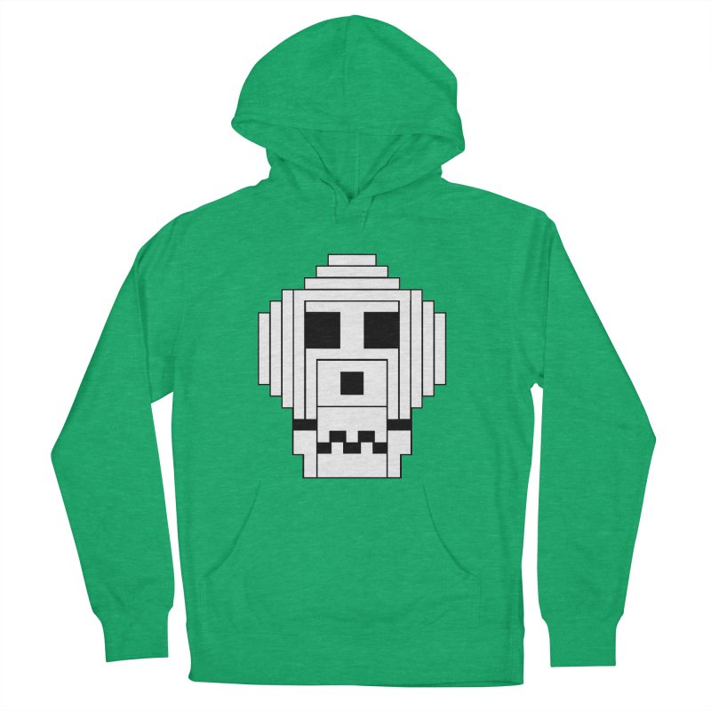 8 Bit Skull Men's French Terry Pullover Hoody by NOLA 'Nacular's Shop
