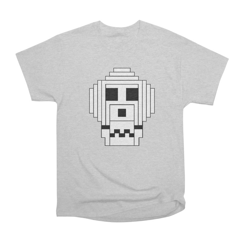 8 Bit Skull Men's Heavyweight T-Shirt by NOLA 'Nacular's Shop