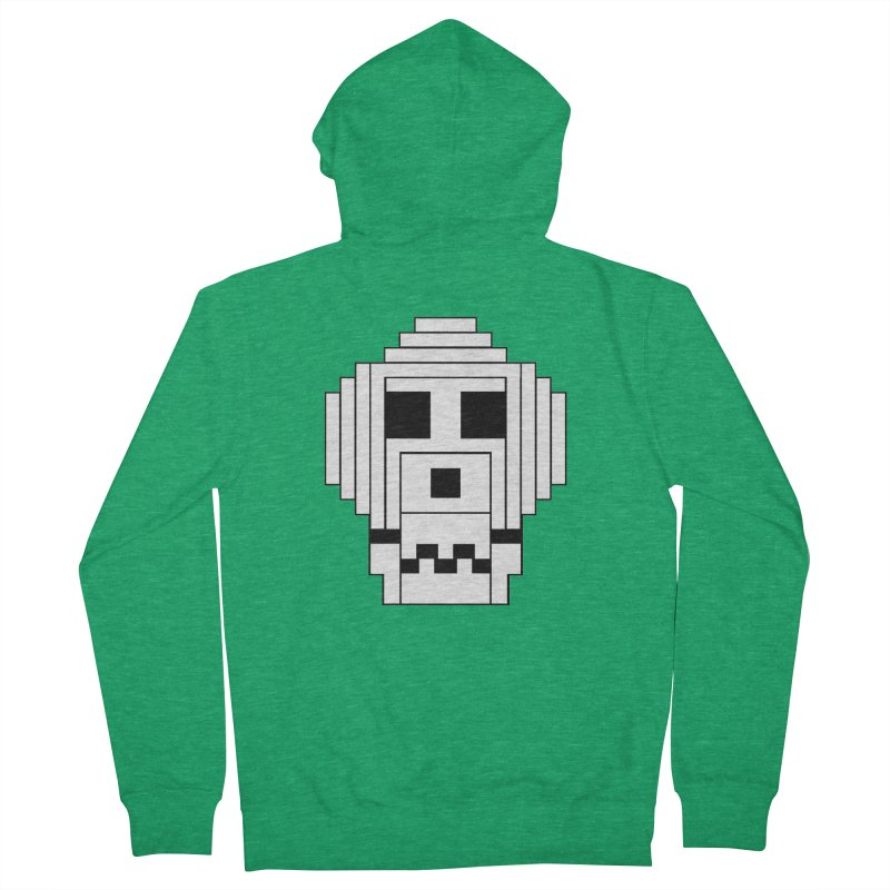 8 Bit Skull Women's Zip-Up Hoody by NOLA 'Nacular's Shop