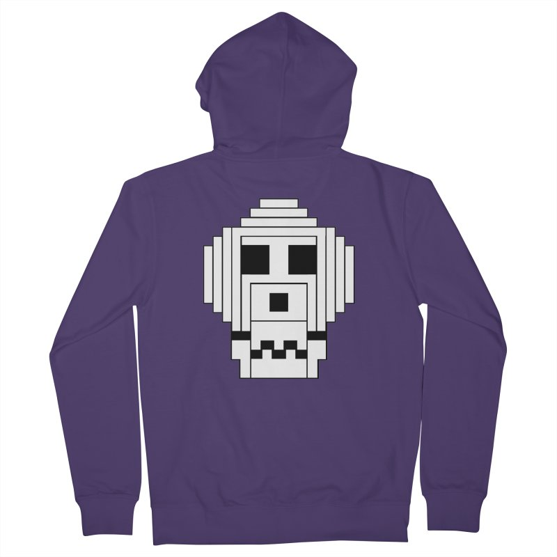 8 Bit Skull Women's French Terry Zip-Up Hoody by NOLA 'Nacular's Shop