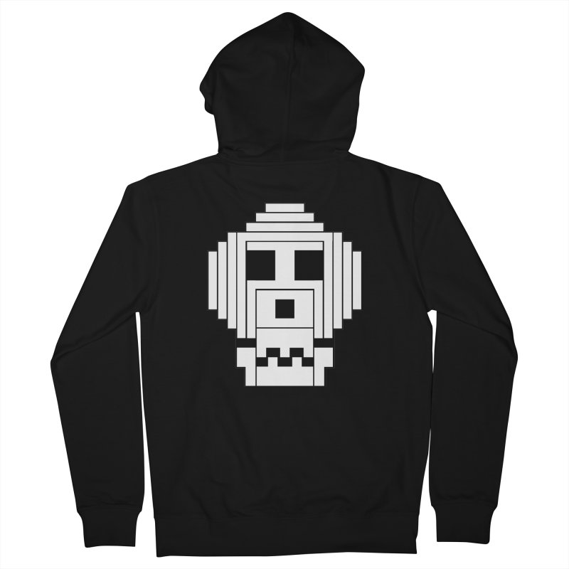 8 Bit Skull Men's French Terry Zip-Up Hoody by NOLA 'Nacular's Shop