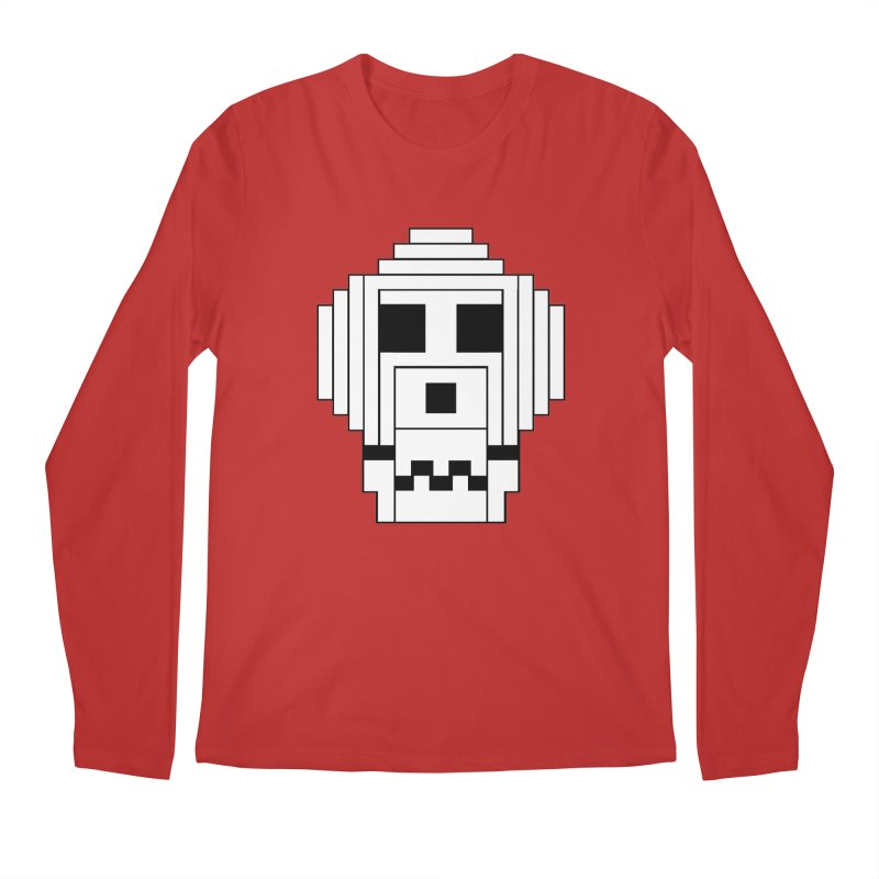 8 Bit Skull Men's Regular Longsleeve T-Shirt by NOLA 'Nacular's Shop