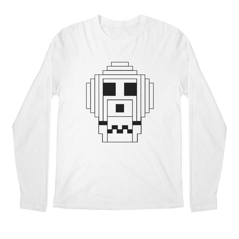 8 Bit Skull Men's Regular Longsleeve T-Shirt by NOLA 'Nacular's Shop