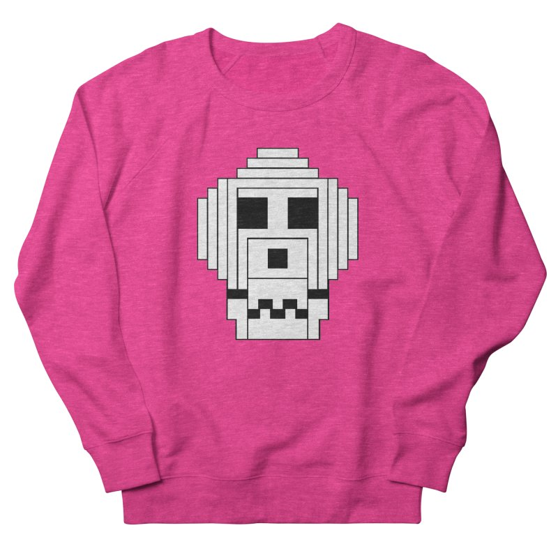 8 Bit Skull Women's French Terry Sweatshirt by NOLA 'Nacular's Shop