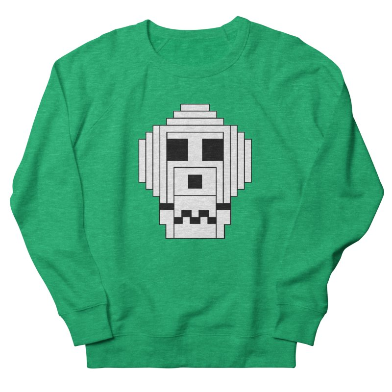8 Bit Skull Men's French Terry Sweatshirt by NOLA 'Nacular's Shop