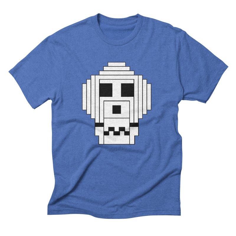 8 Bit Skull Men's Triblend T-Shirt by NOLA 'Nacular's Shop