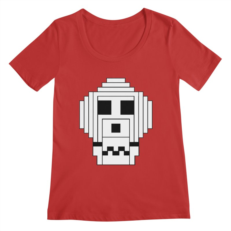 8 Bit Skull Women's Regular Scoop Neck by NOLA 'Nacular's Shop