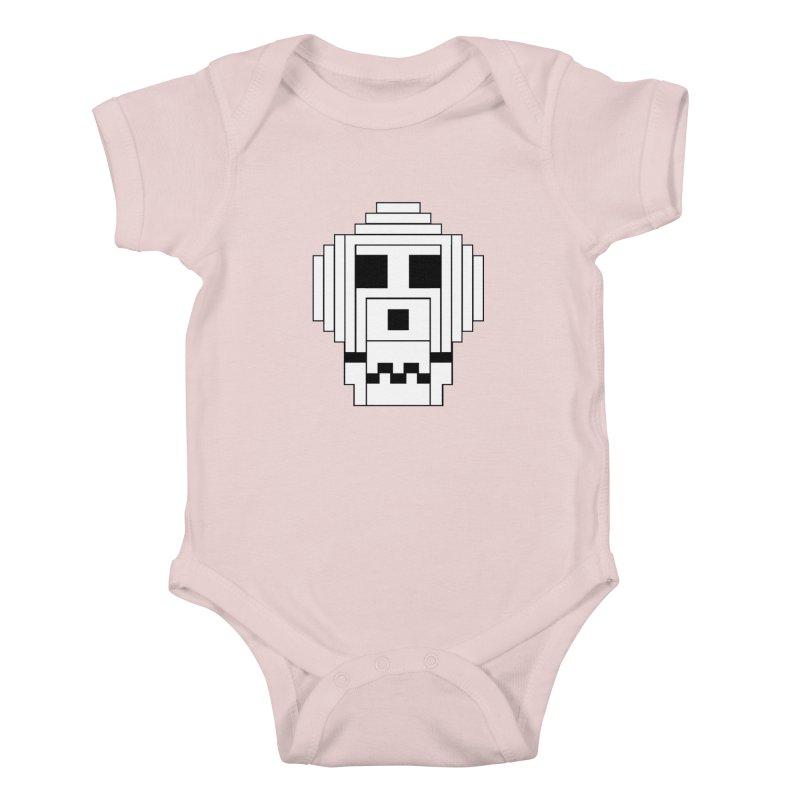 8 Bit Skull Kids Baby Bodysuit by NOLA 'Nacular's Shop