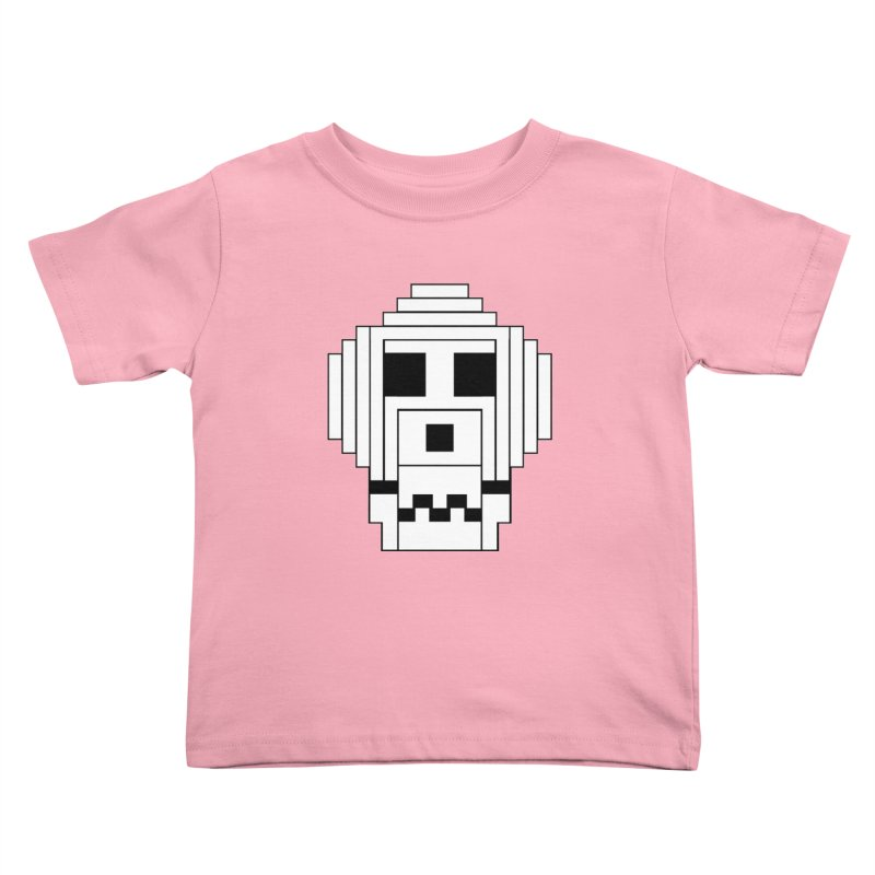8 Bit Skull Kids Toddler T-Shirt by NOLA 'Nacular's Shop