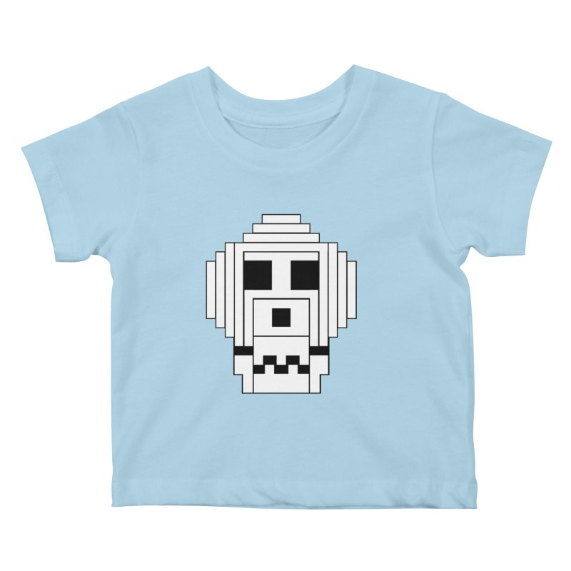 8 Bit Skull Kids Baby T-Shirt by NOLA 'Nacular's Shop
