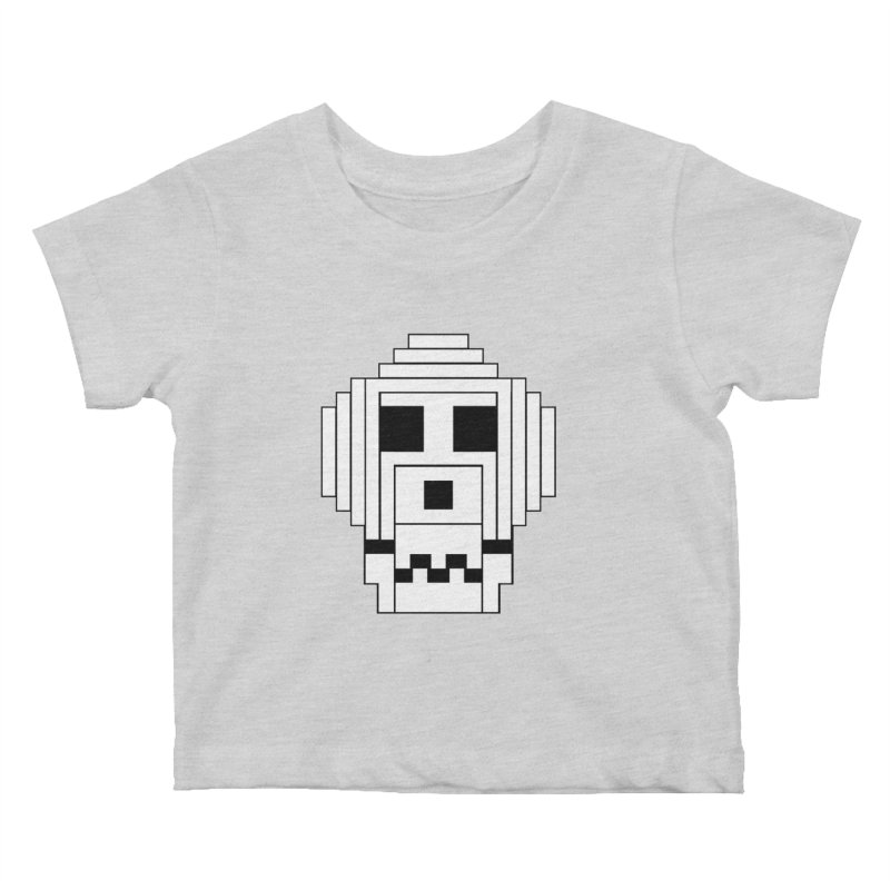 8 Bit Skull Kids Baby T-Shirt by NOLA 'Nacular's Shop