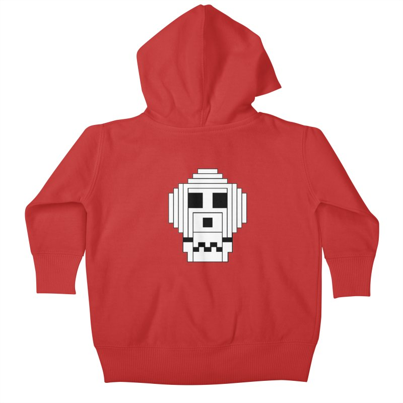 8 Bit Skull Kids Baby Zip-Up Hoody by NOLA 'Nacular's Shop