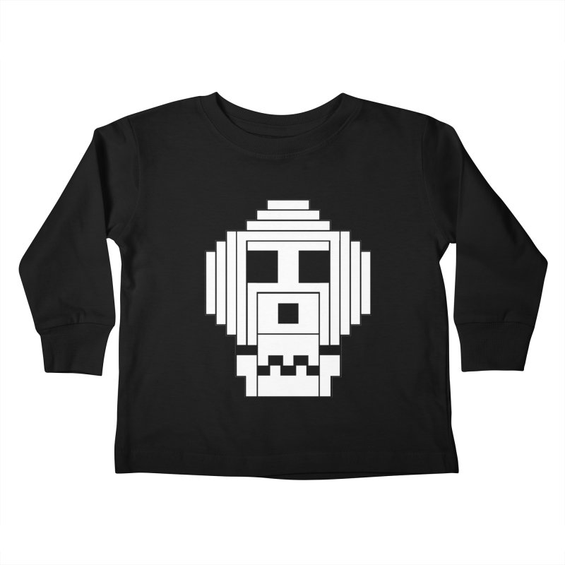 8 Bit Skull Kids Toddler Longsleeve T-Shirt by NOLA 'Nacular's Shop