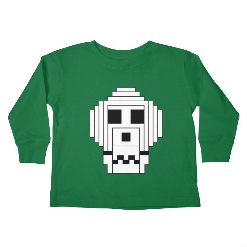 8 Bit Skull Kids Toddler Longsleeve T-Shirt by NOLA 'Nacular's Shop