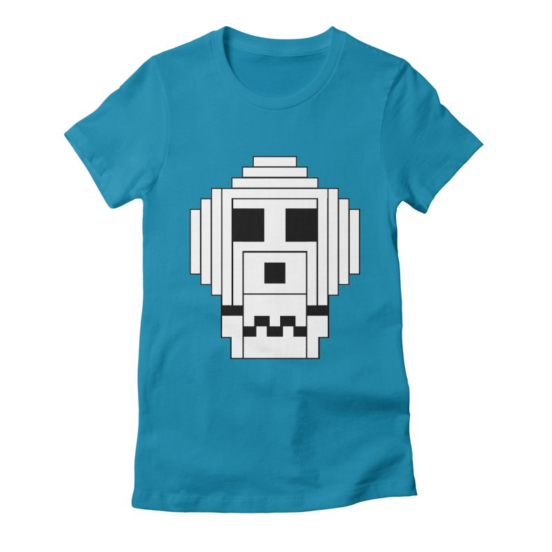 8 Bit Skull Women's Fitted T-Shirt by NOLA 'Nacular's Shop