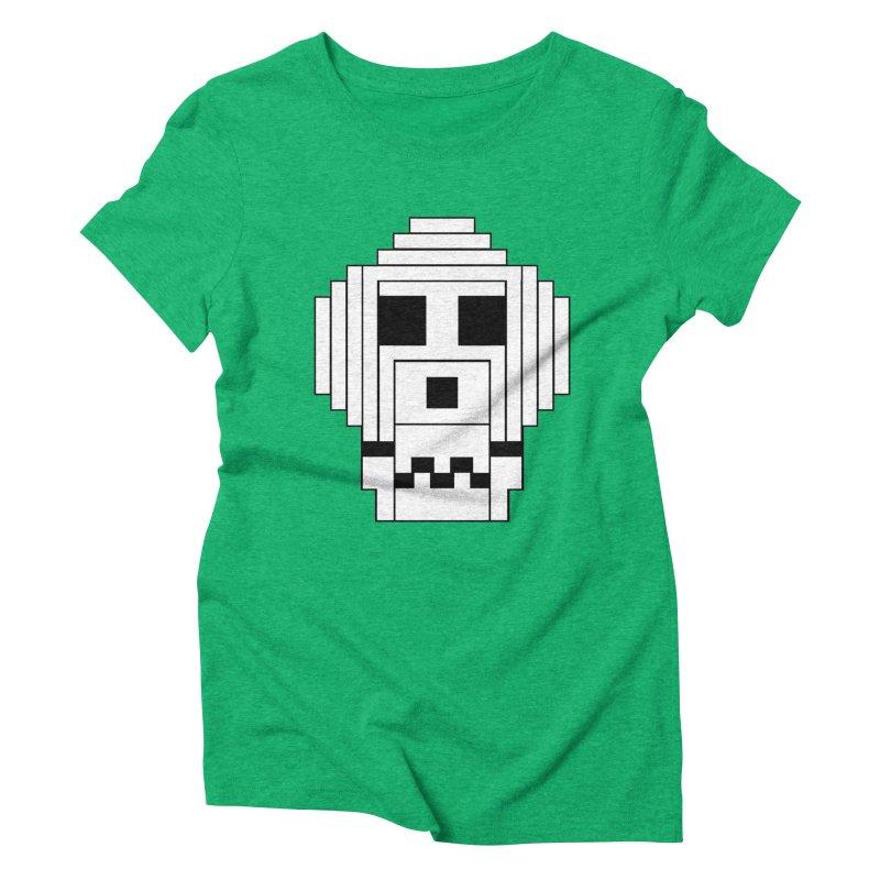 8 Bit Skull Women's Triblend T-Shirt by NOLA 'Nacular's Shop