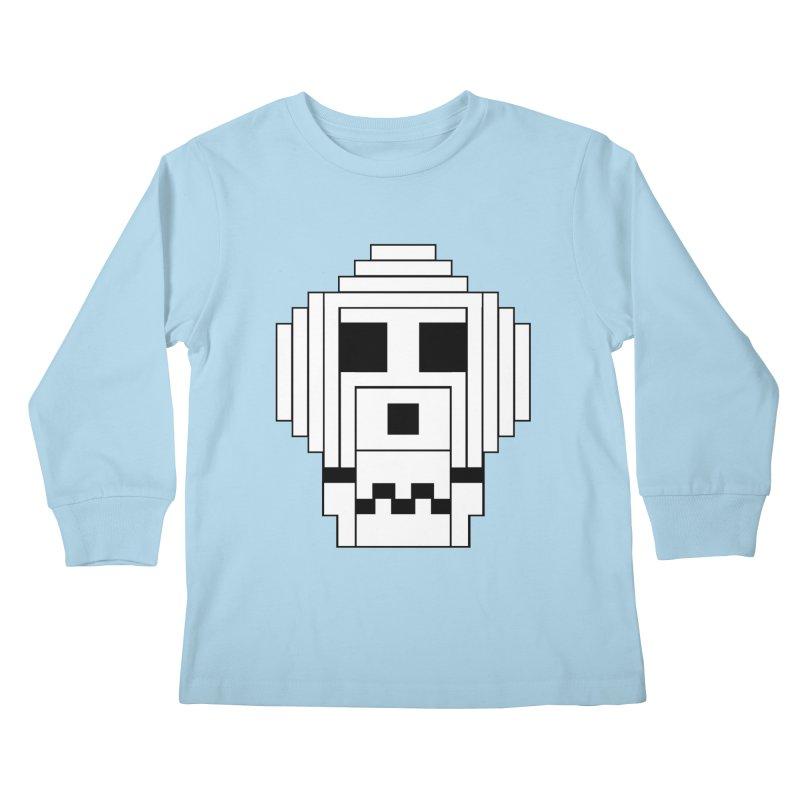 8 Bit Skull Kids Longsleeve T-Shirt by NOLA 'Nacular's Shop