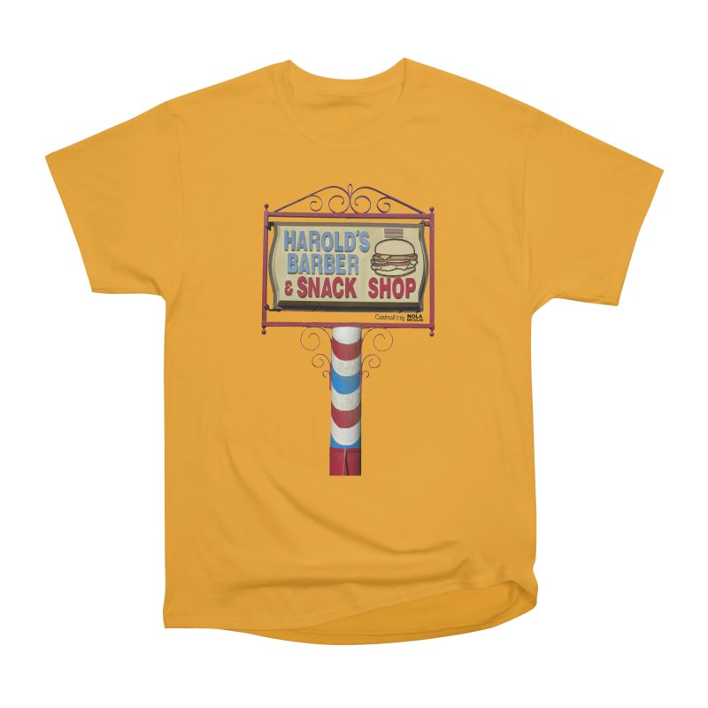 Harold's Barber and Snack Shop sign Women's Heavyweight Unisex T-Shirt by NOLA 'Nacular's Shop