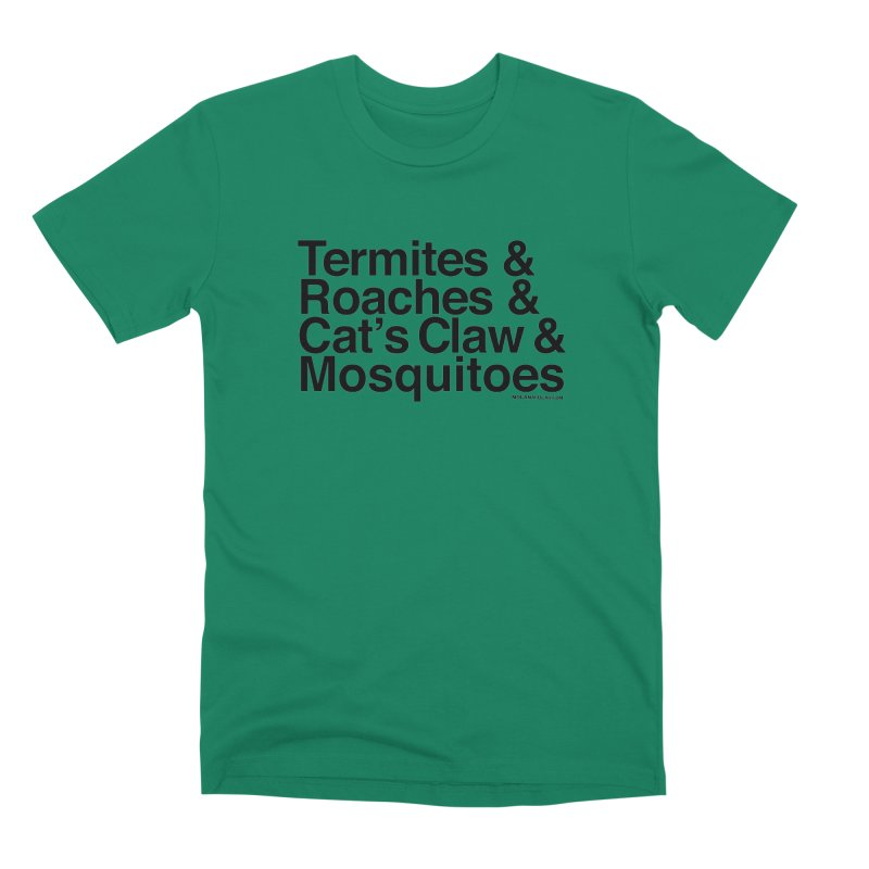 Pest and Invaders (black print) Men's Premium T-Shirt by NOLA 'Nacular's Shop