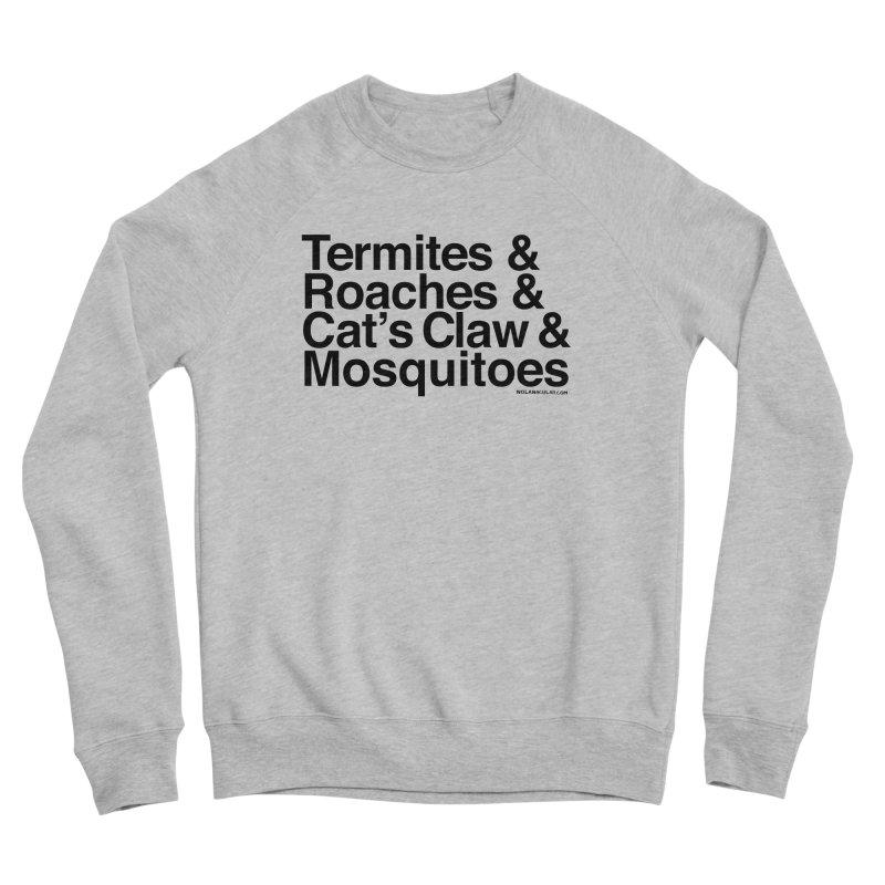 Pest and Invaders (black print) Women's Sponge Fleece Sweatshirt by NOLA 'Nacular's Shop