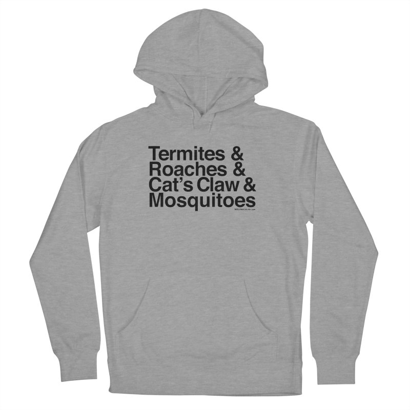 Pest and Invaders (black print) Women's Pullover Hoody by NOLA 'Nacular's Shop