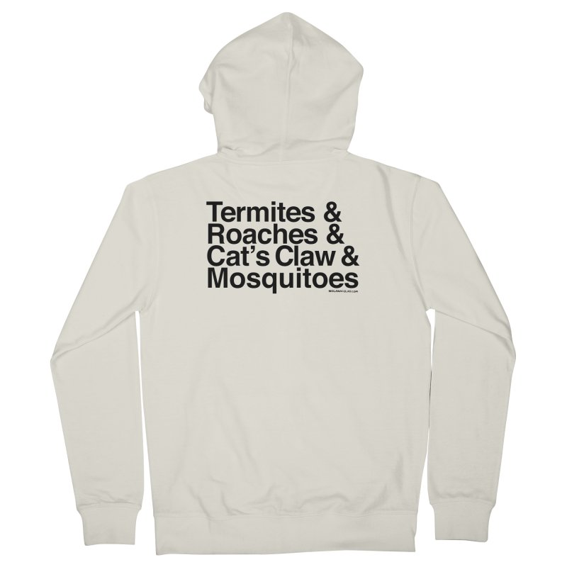 Pest and Invaders (black print) Women's French Terry Zip-Up Hoody by NOLA 'Nacular's Shop