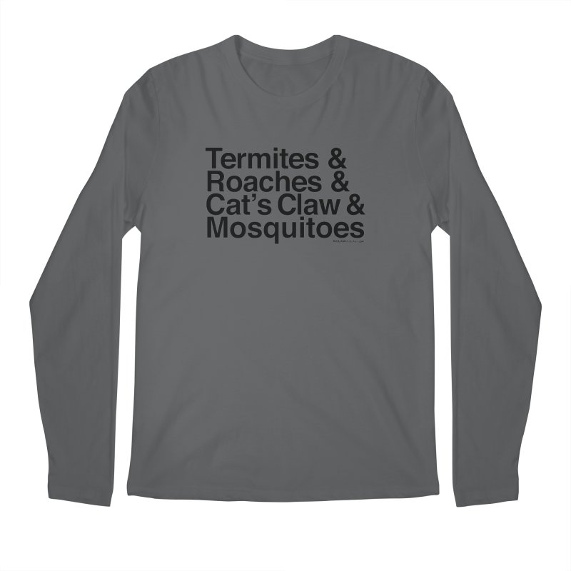 Pest and Invaders (black print) Men's Regular Longsleeve T-Shirt by NOLA 'Nacular's Shop