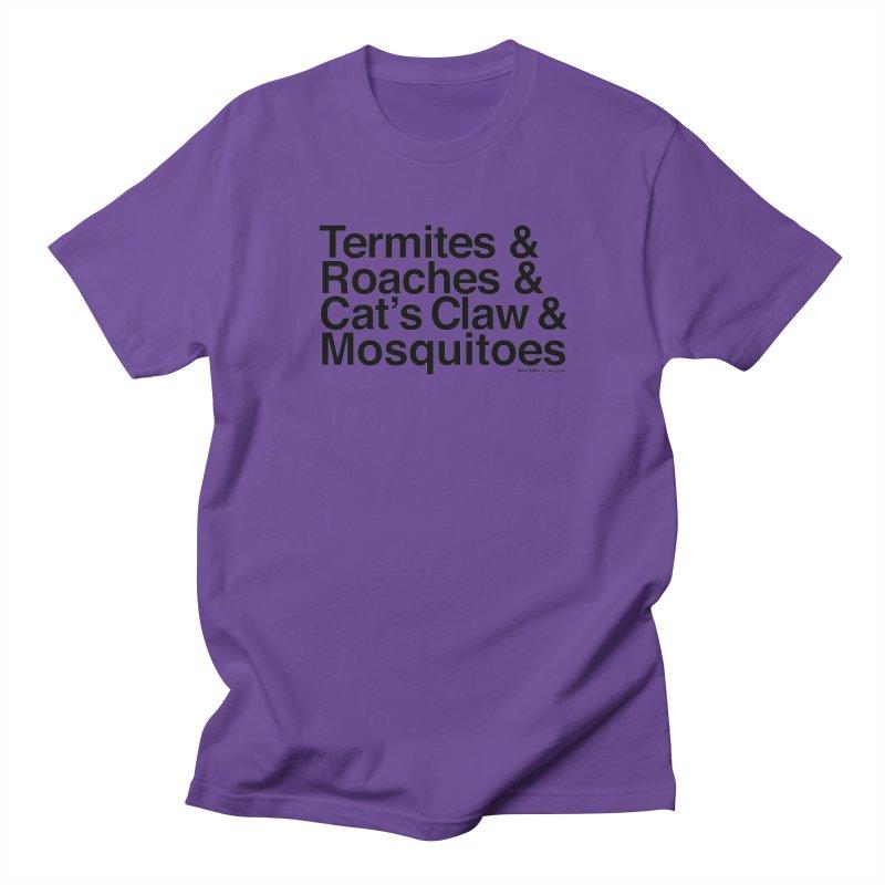 Pest and Invaders (black print) Men's Regular T-Shirt by NOLA 'Nacular's Shop