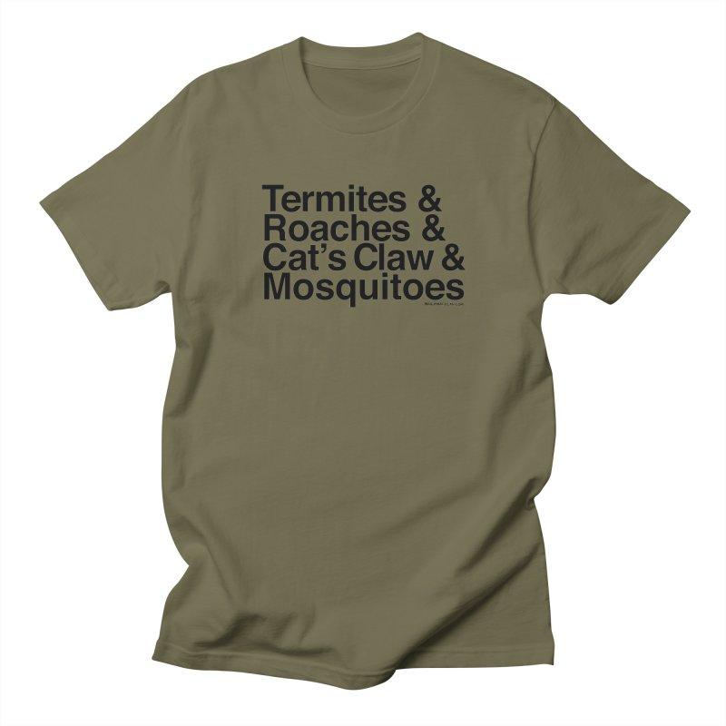 Pest and Invaders (black print) Women's Regular Unisex T-Shirt by NOLA 'Nacular's Shop