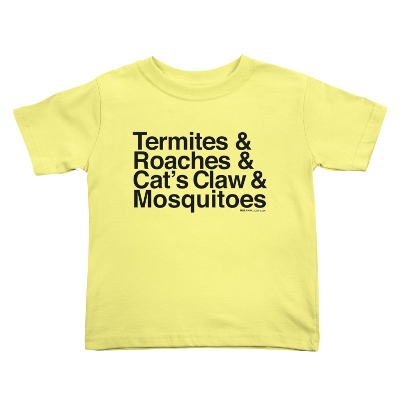 Pest and Invaders (black print) Kids Toddler T-Shirt by NOLA 'Nacular's Shop