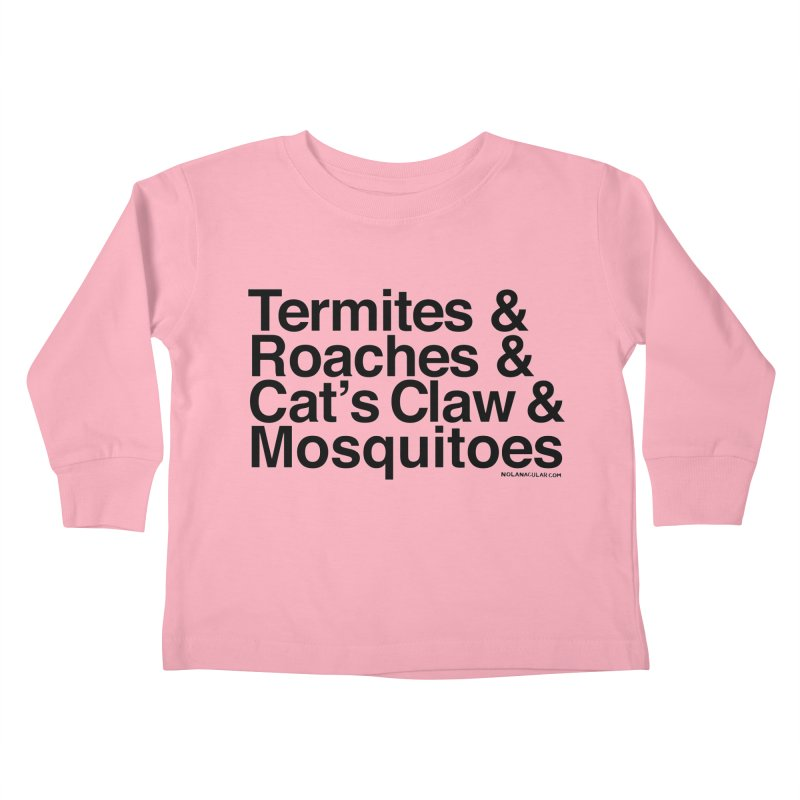 Pest and Invaders (black print) Kids Toddler Longsleeve T-Shirt by NOLA 'Nacular's Shop