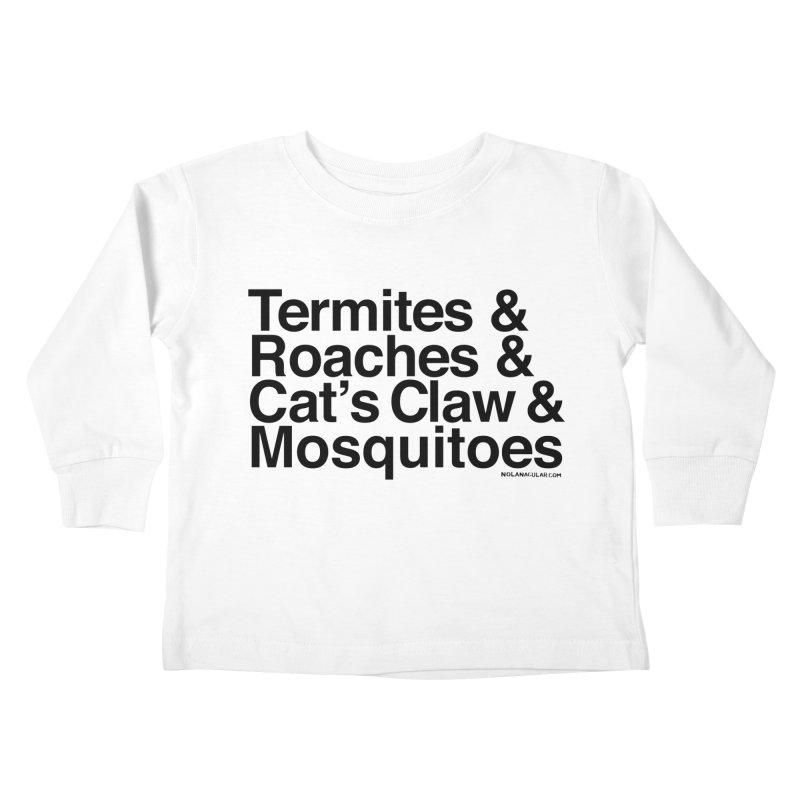 Pest and Invaders (black print) Kids Toddler Longsleeve T-Shirt by NOLA 'Nacular's Shop