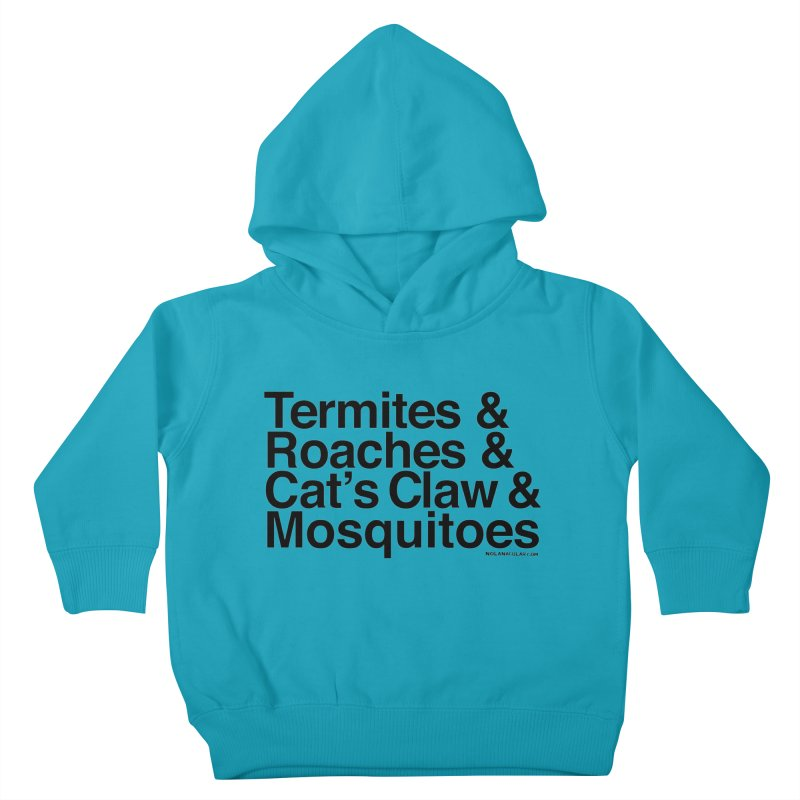 Pest and Invaders (black print) Kids Toddler Pullover Hoody by NOLA 'Nacular's Shop