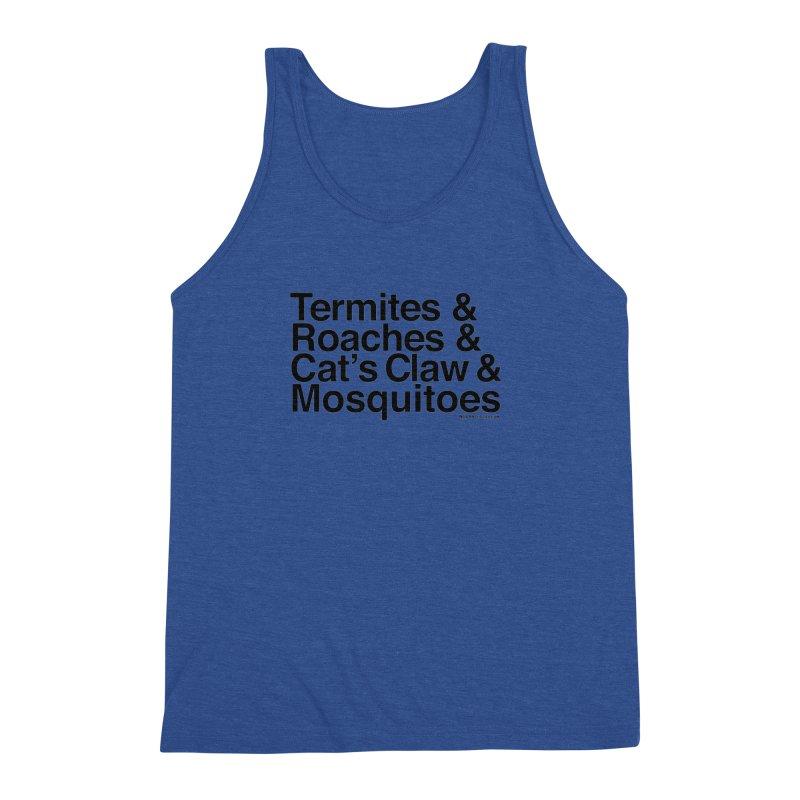 Pest and Invaders (black print) Men's Triblend Tank by NOLA 'Nacular's Shop