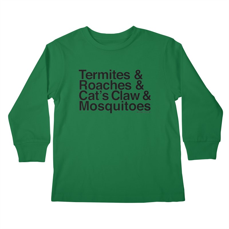 Pest and Invaders (black print) Kids Longsleeve T-Shirt by NOLA 'Nacular's Shop