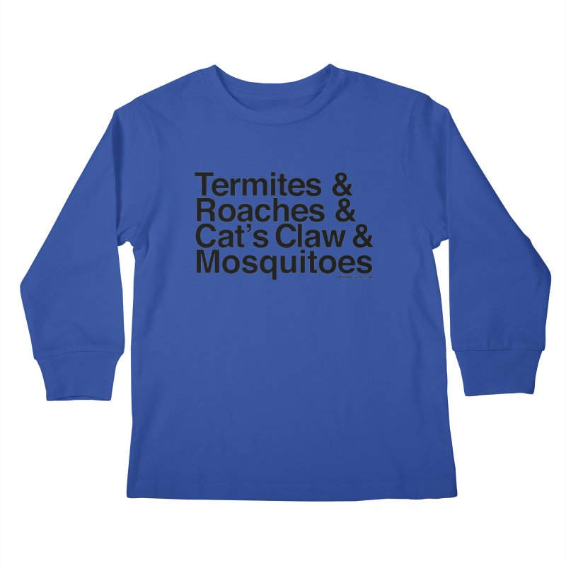 Pest and Invaders (black print) Kids Longsleeve T-Shirt by NOLA 'Nacular's Shop