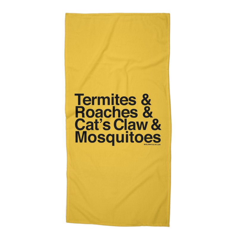 Pest and Invaders (black print) Accessories Beach Towel by NOLA 'Nacular's Shop