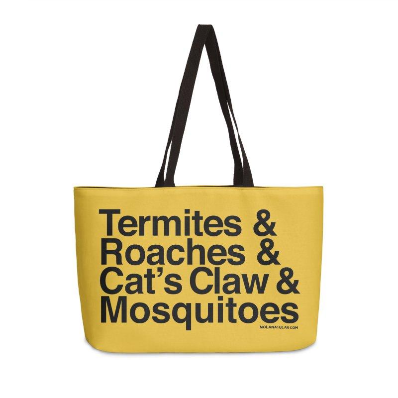 Pest and Invaders (black print) Accessories Weekender Bag Bag by NOLA 'Nacular's Shop