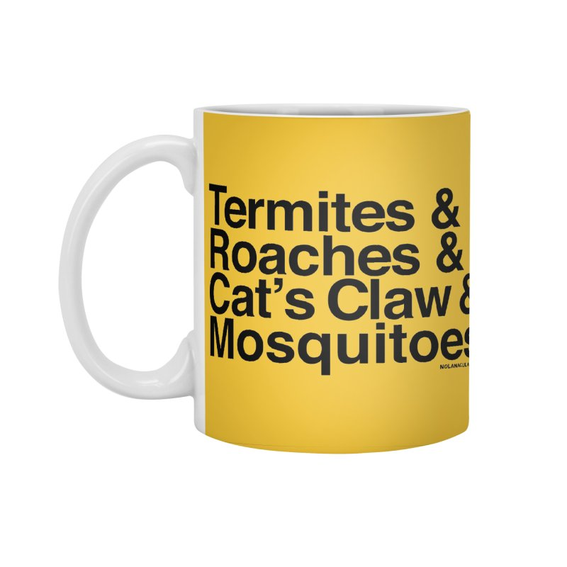 Pest and Invaders (black print) Accessories Standard Mug by NOLA 'Nacular's Shop