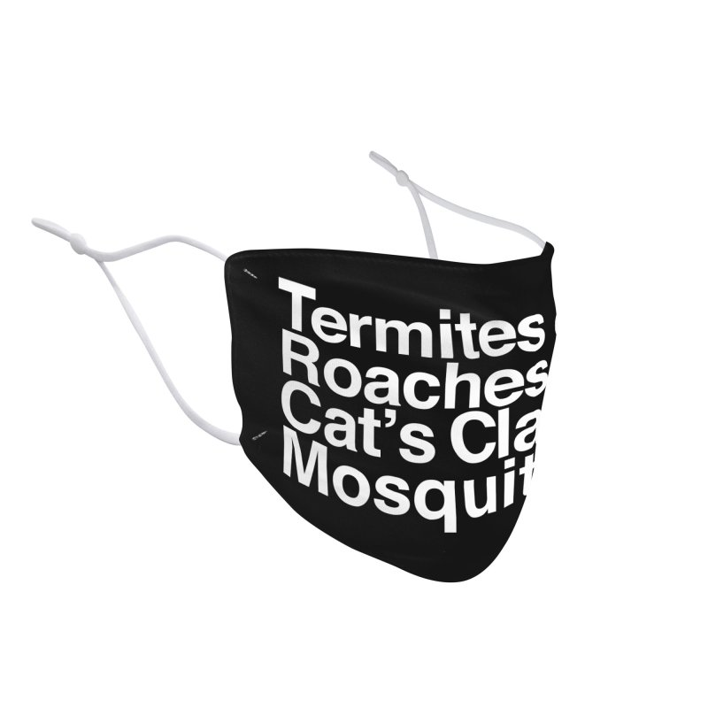 Pest and Invaders (white print) Accessories Face Mask by NOLA 'Nacular's Shop