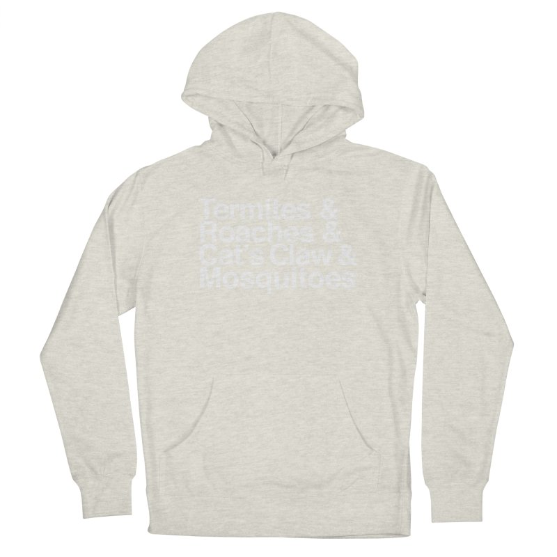 Pest and Invaders (white print) Women's French Terry Pullover Hoody by NOLA 'Nacular's Shop