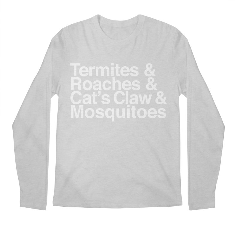 Pest and Invaders (white print) Men's Regular Longsleeve T-Shirt by NOLA 'Nacular's Shop