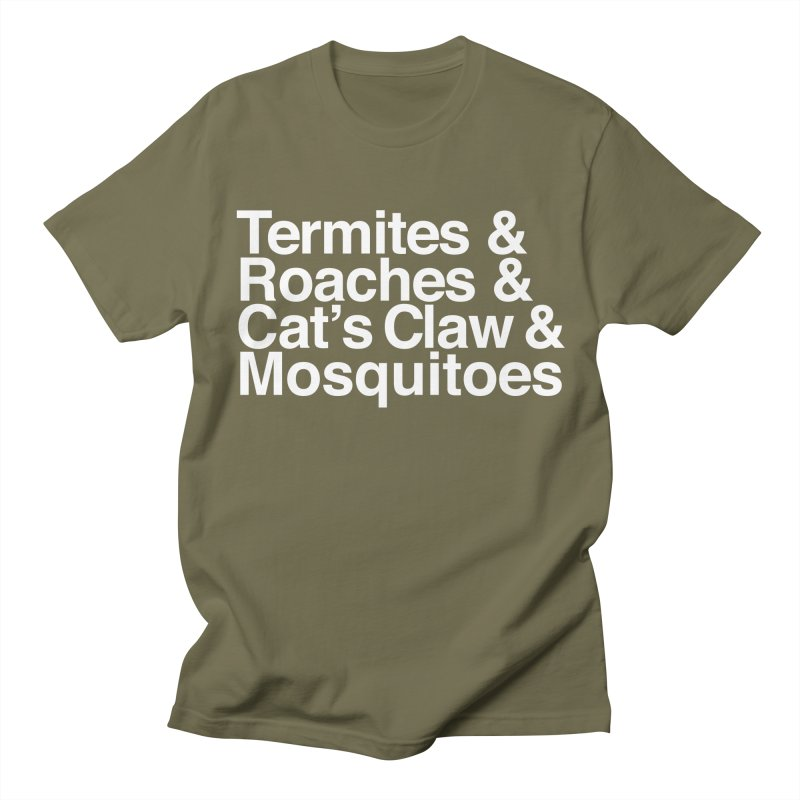 Pest and Invaders (white print) Men's Regular T-Shirt by NOLA 'Nacular's Shop