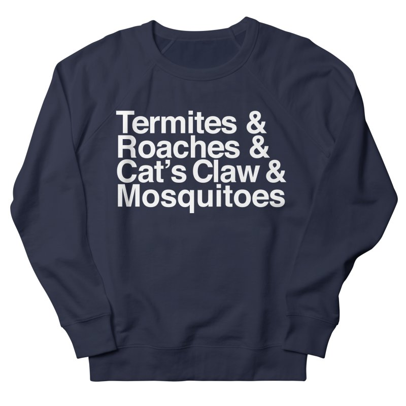 Pest and Invaders (white print) Men's French Terry Sweatshirt by NOLA 'Nacular's Shop