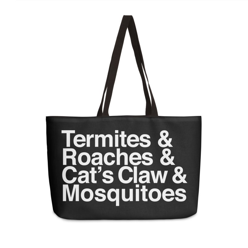 Pest and Invaders (white print) Accessories Weekender Bag Bag by NOLA 'Nacular's Shop