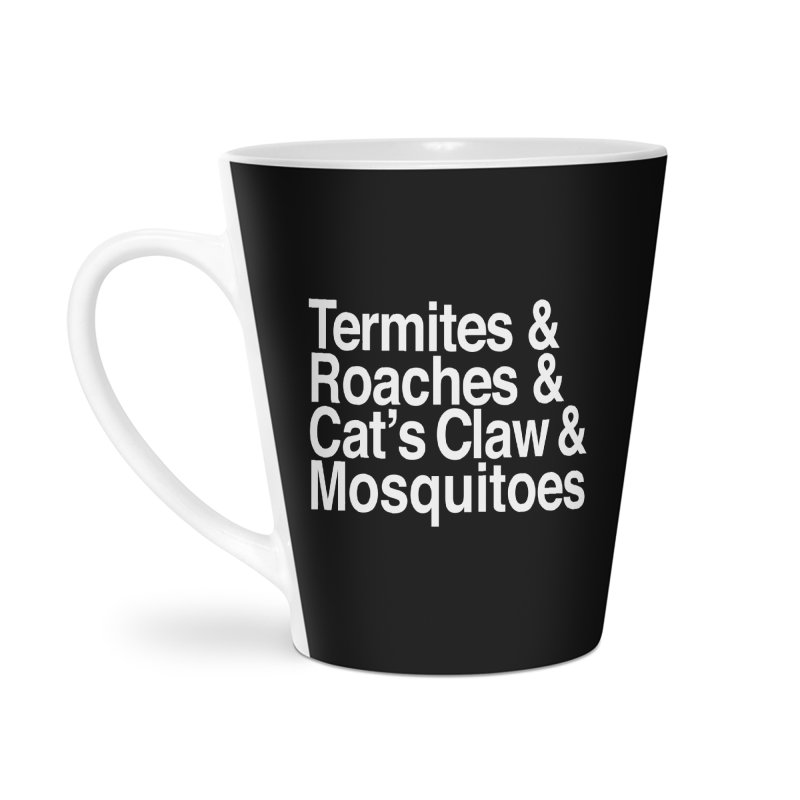 Pest and Invaders (white print) Accessories Latte Mug by NOLA 'Nacular's Shop
