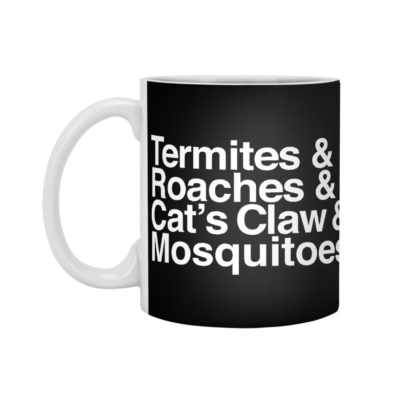 Pest and Invaders (white print) Accessories Standard Mug by NOLA 'Nacular's Shop