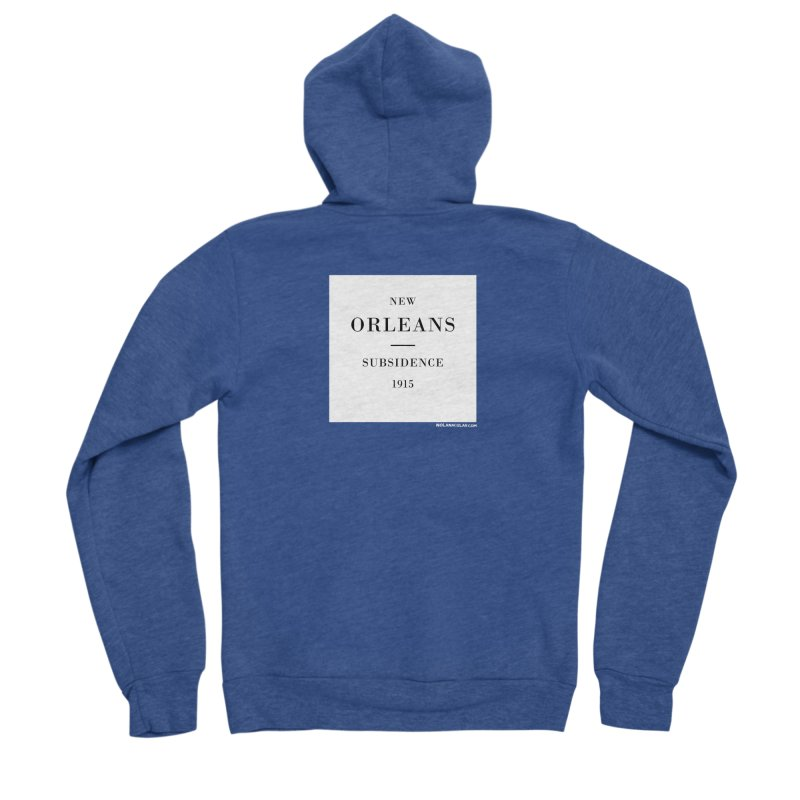 New Orleans - Subsidence Men's Sponge Fleece Zip-Up Hoody by NOLA 'Nacular's Shop
