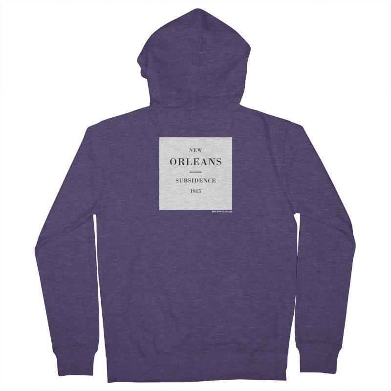 New Orleans - Subsidence Men's French Terry Zip-Up Hoody by NOLA 'Nacular's Shop